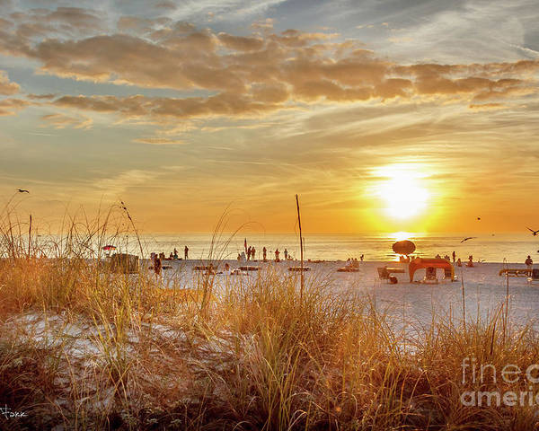 Sunset Poster featuring the photograph Sunset On St Pete by Chris Farr