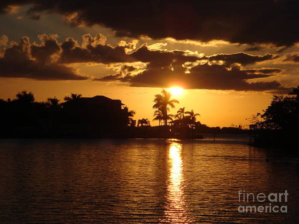 Sunset Poster featuring the photograph Sunset On The Bay by Robyn Leakey