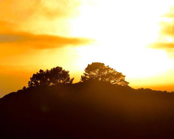 Sunset Poster featuring the photograph Sunset On The Hill by Carol Sheli Cantrell