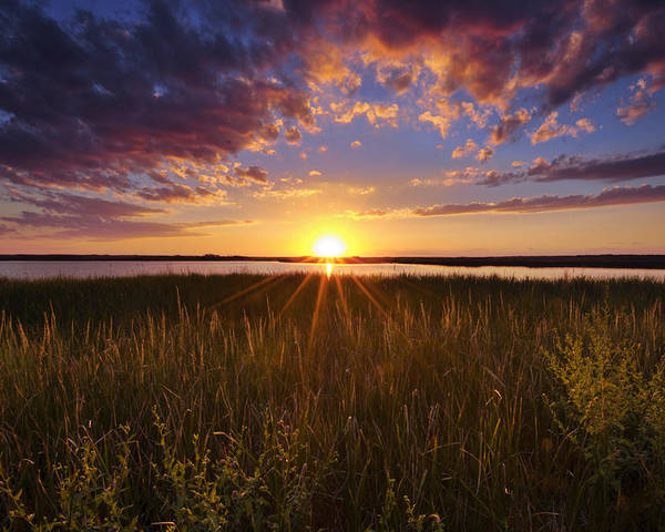 Marsh Poster featuring the photograph Sunset On The Marsh by Joseph Rossbach