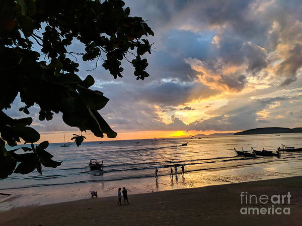 Sunset Poster featuring the photograph Sunset Over Ao Nang Beach Thailand by Nicholas Braman