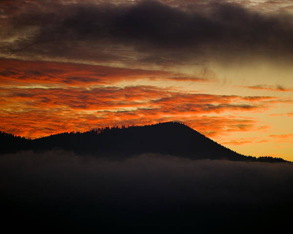 Cataloochee Valley Poster featuring the photograph Sunset Over Cataloochee Valley by Richard Steinberger
