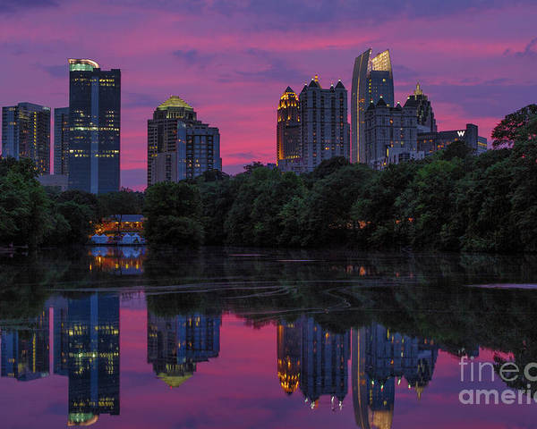 Dogwood Festival Poster featuring the photograph Sunset Over Midtown by Doug Sturgess