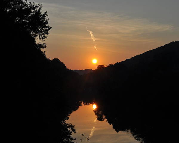 Landscape Poster featuring the photograph Sunset Over The Coal River by Justin Johnson