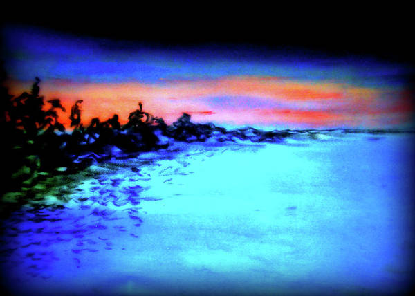 Depth Poster featuring the pastel Sunset by Pam Ellis
