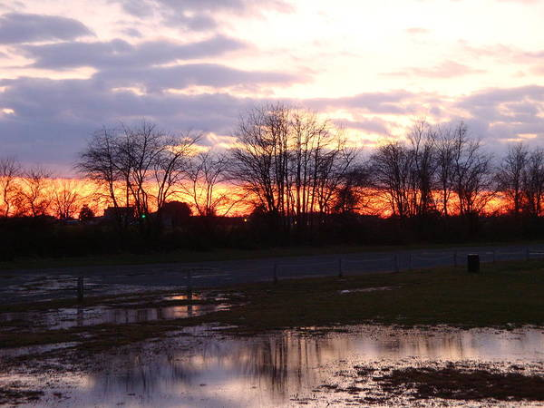 Sunset Poster featuring the photograph Sunset Reflections by Donna Holmberg