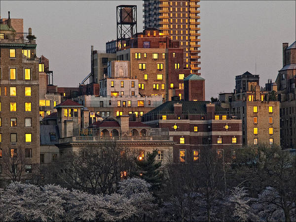 Sunset Poster featuring the photograph Sunset Spring Nyc by Robert Ullmann