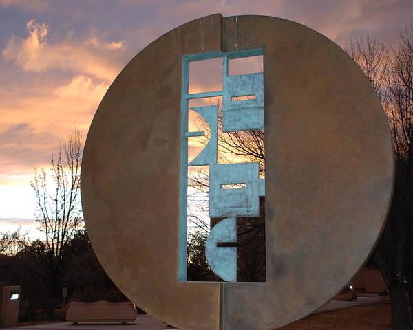 Pop Art Poster featuring the photograph Sunset Thru Art by Rob Hans