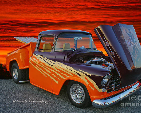 Cars Poster featuring the photograph Super Cool Old Pickup by Randy Harris