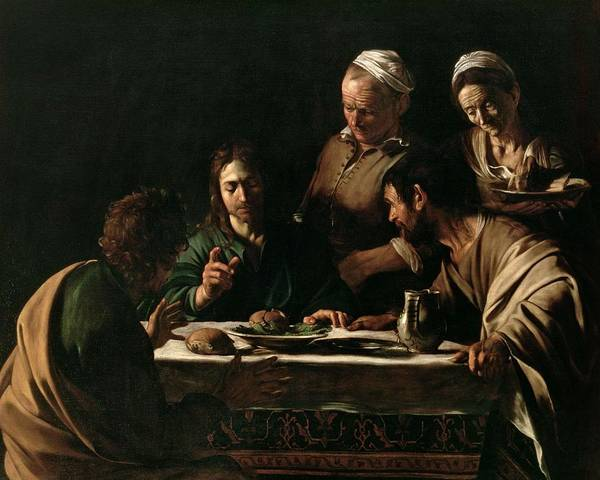 Beautiful Poster featuring the painting Supper At Emmaus By Michelangelo Merisi Da Caravaggio by Michelangelo Merisi da Caravaggio