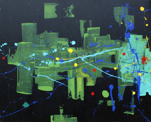 Contemporary Abstract Poster featuring the painting Supreme Dominance by John Wesley