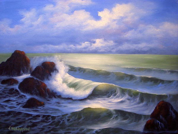 Surf Poster featuring the painting Surf Melody by Francine Henderson
