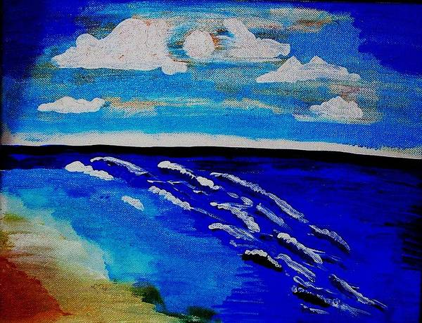 Seascape Poster featuring the painting Surf Of Love 2 by Lorna Lorraine