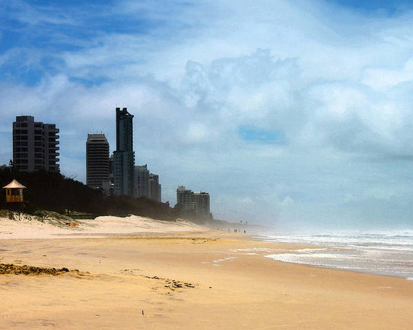 Susan Vineyard Poster featuring the photograph Surfers Paradise On A Stormy Day by Susan Vineyard