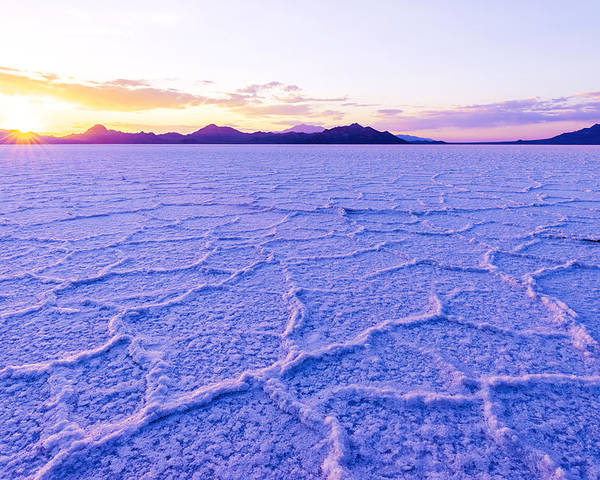 Salt Flats Poster featuring the photograph Surreal Salt by Chad Dutson