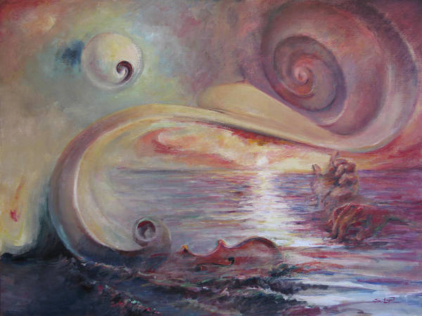 Surrealistic Poster featuring the painting Surrealistic Improvisation by Tigran Ghulyan