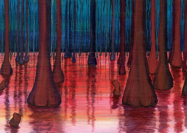 Landscsape Poster featuring the painting Swamp Veins by Kim Nelson