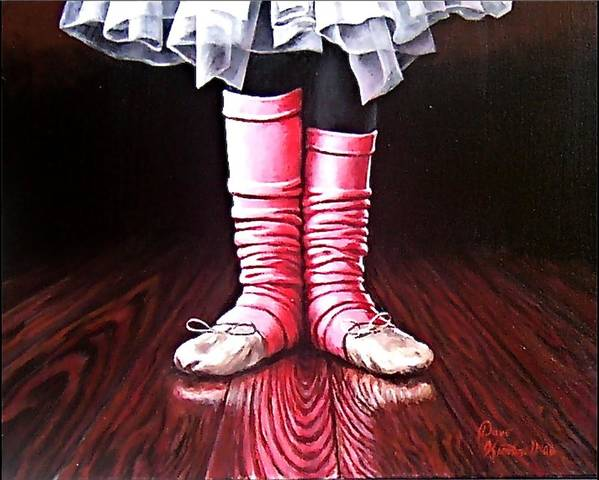 Ballet Shoes Feet Ballerina  Poster featuring the painting Sweet Feet by Dave Kimbrell