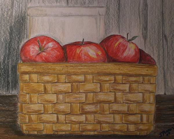 Apples Poster featuring the drawing Sweet Pickens by Jessica Mason