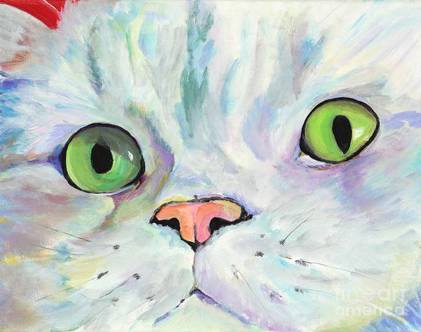 Kitten Poster featuring the painting Sweet Puss by Pat Saunders-White