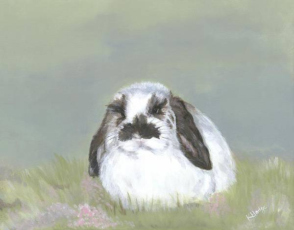 Bunny Poster featuring the painting Sweet Scout by Kimberly Hodge