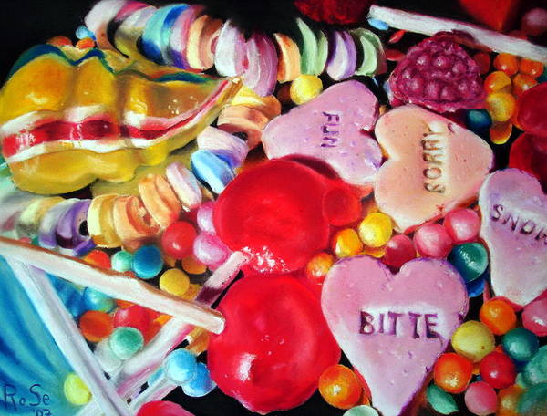 Soft Pastels Poster featuring the painting Sweets For My Sweet by Rose Sciberras