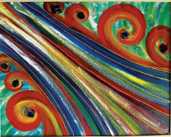 Swirls Poster featuring the painting Swirls by Nancy Sisco