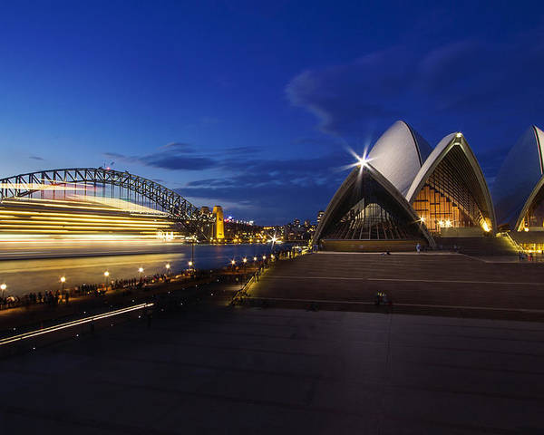 Sydney Poster featuring the photograph Sydney Opera House At Night by Saiid El Ghazal