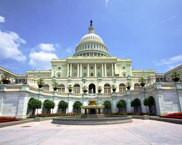 Captiol Congress Architecture capitol Building America Usa Government Dome Poster featuring the photograph Symbol Of Its People by Mitch Cat