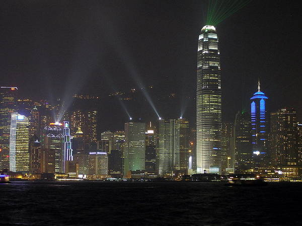 Hong Kong Poster featuring the photograph Symphony Of Lights by Phil Stone