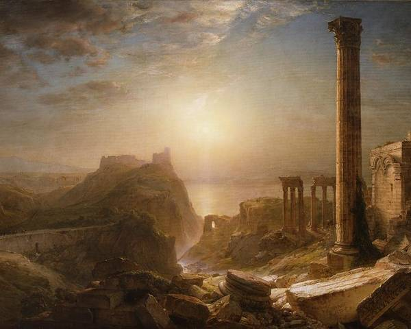 Syria Poster featuring the painting Syria By The Sea by Frederic Edwin Church