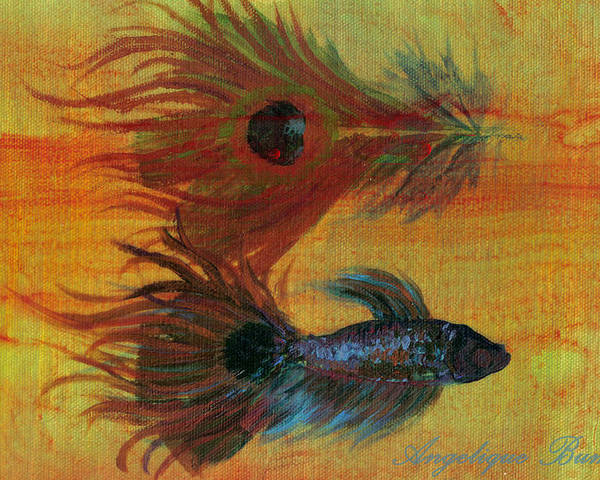 Fish Poster featuring the painting Tail Study by Angelique Bowman