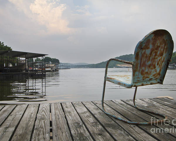 Lake Poster featuring the photograph Sittin' On The Dock by Dennis Hedberg
