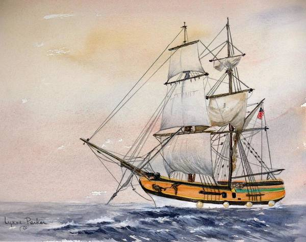 Lady Washington Poster featuring the painting Tall Masted Ship by Lynne Parker