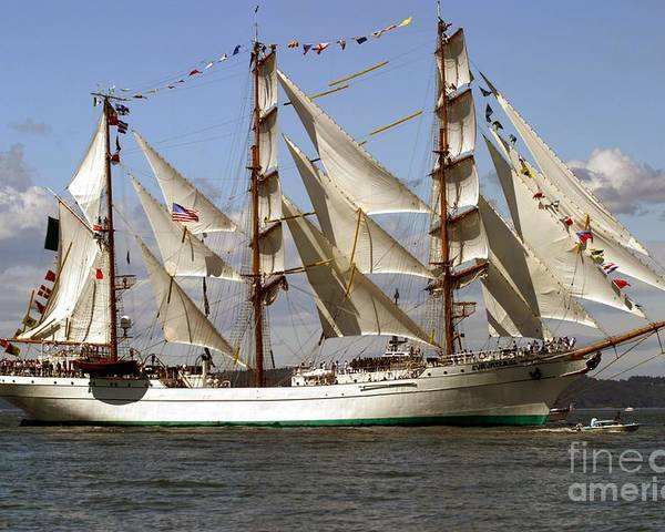 Tall Ships Poster featuring the photograph Tall Ship by Robert Torkomian