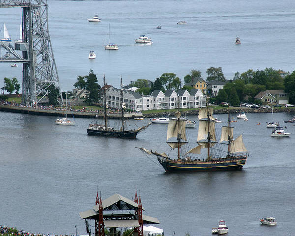 Tall Ships Poster featuring the photograph Tall Ships -hms Bounty by Ron Read