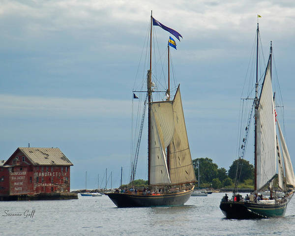 Tall Ships Poster featuring the photograph Tall Ships Sailing II by Suzanne Gaff