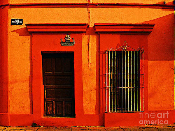 Michael Fitzpatrick Poster featuring the photograph Tangerine Casa By Michael Fitzpatrick by Mexicolors Art Photography