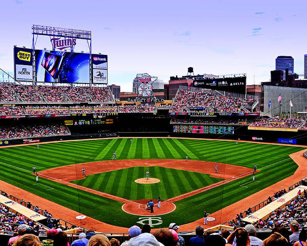 Target Field Poster featuring the photograph Target Field by Lyle Huisken