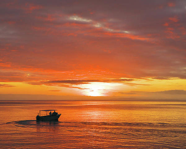 Sunset Poster featuring the photograph Taveuni Sunset by Naoki Takyo