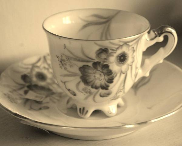 Tea Cup Poster featuring the photograph Tea Cup by Michelle Williams