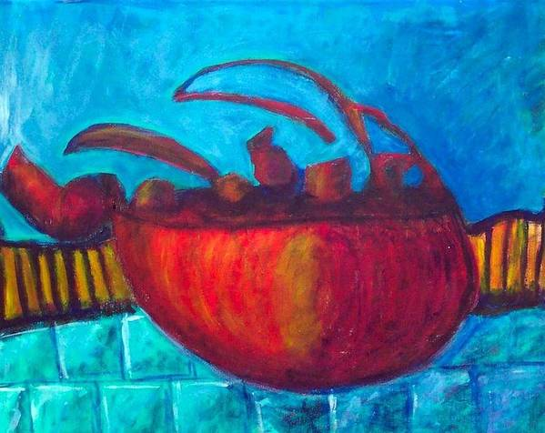Teapot Poster featuring the painting Teapot by Rebecca Merola