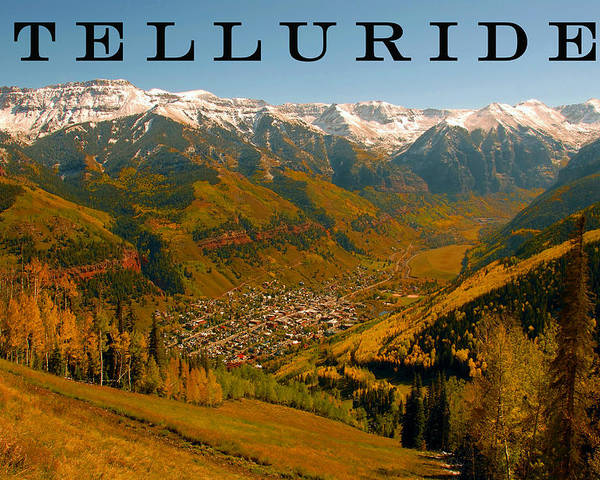 Fine Art Photography Poster featuring the photograph Telluride Colorado by David Lee Thompson