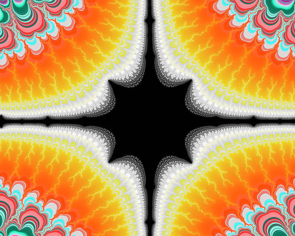 Fractal Poster featuring the digital art Fractal 7 2x3 by Daniel George