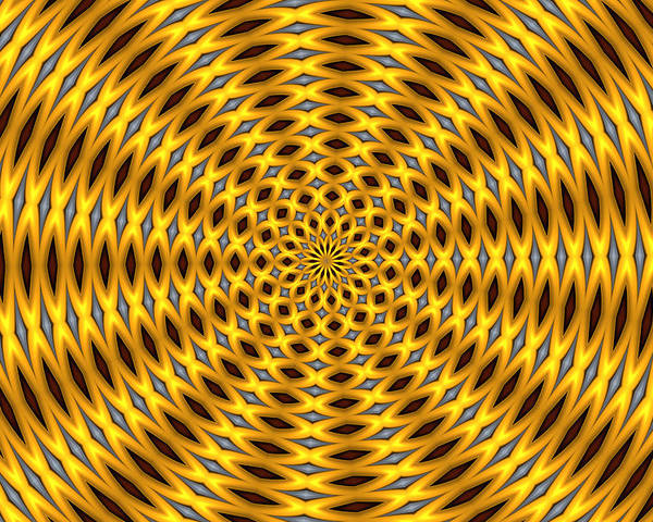 Optical Art Poster featuring the digital art Ten Minute Art 2 by David Lane