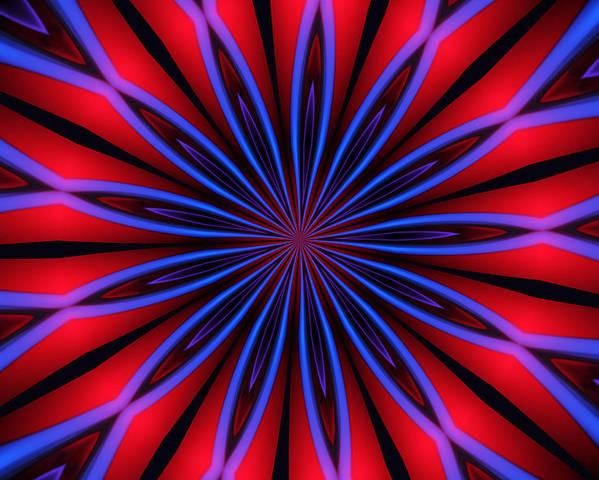 Optical Art Poster featuring the digital art Ten Minute Art 4 by David Lane