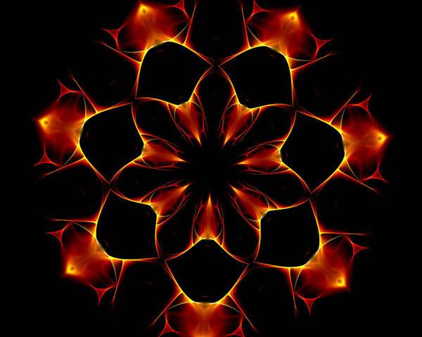 Optical Art Poster featuring the digital art Ten Minute Art 6 by David Lane