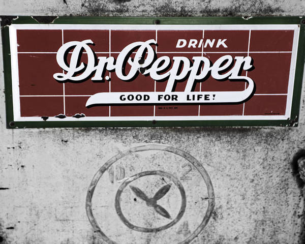Dr Pepper Poster featuring the photograph Ten Two And Four by Paul Huchton