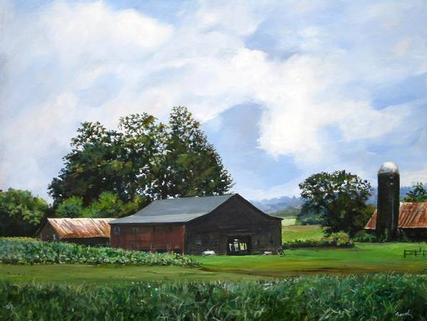 Farm Poster featuring the painting Tennessee Sky by William Brody
