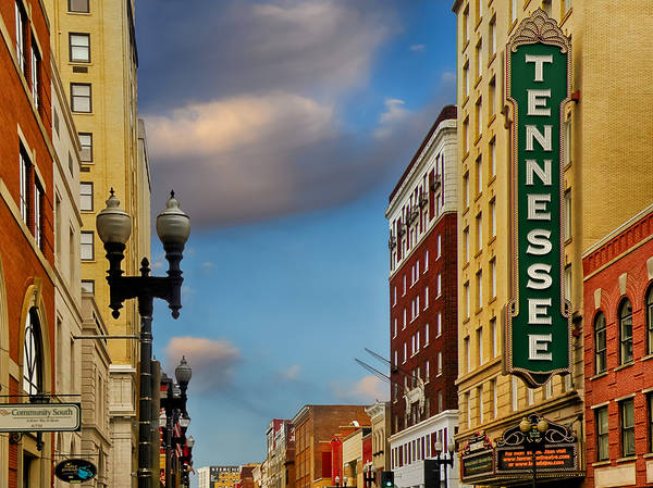 Knoxville Cityscapes Poster featuring the photograph Tennessee Theatre by Steven Michael
